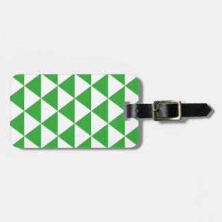 緑の三角形パターン ラゲッジタグ