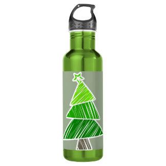緑の不完全なクリスマスツリー ウォーターボトル