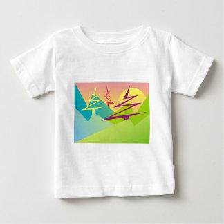 緑の世界のTシャツのPinetreeの山頂 ベビーTシャツ
