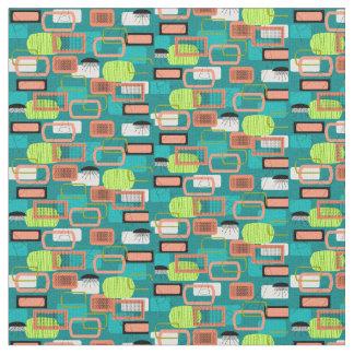 緑の世紀半ばの抽象芸術 ファブリック