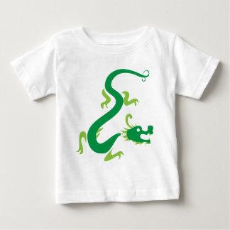 緑の中国のなドラゴン ベビーTシャツ