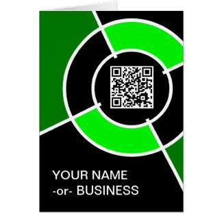 緑の中心点QRコード カード