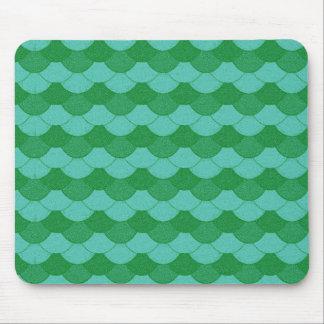 緑の人魚のスケール マウスパッド