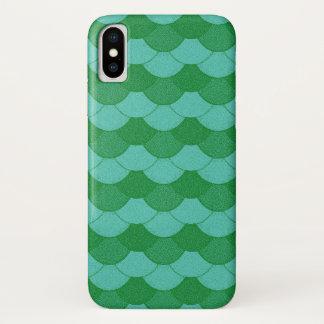 緑の人魚のスケール iPhone X ケース