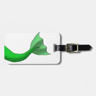 緑の人魚の尾 ラゲッジタグ