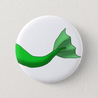 緑の人魚の尾 5.7CM 丸型バッジ