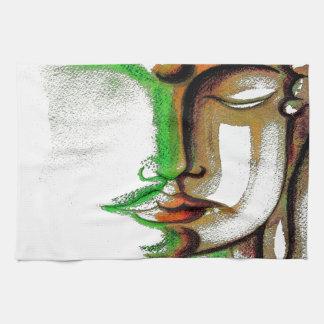 緑の仏の陰 キッチンタオル