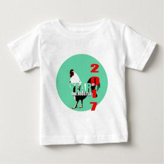 緑の円のティー1の2017年のオンドリ年 ベビーTシャツ