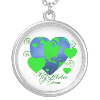 緑の円形のネックレスの願い オリジナルジュエリー