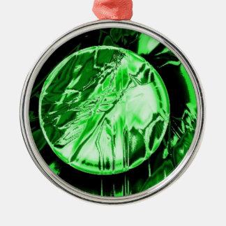 緑の円 メタルオーナメント