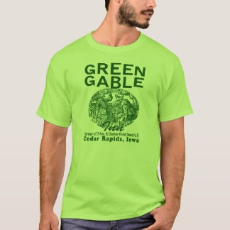 緑の切り妻のインのTシャツ Tシャツ