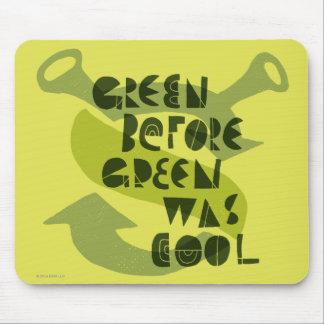 緑の前の緑はクールでした マウスパッド