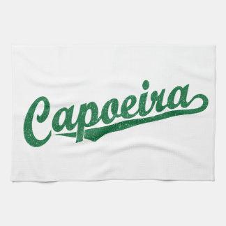 緑の動揺してのCapoeira キッチンタオル