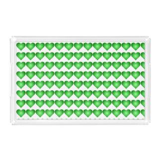 緑の勾配のハート アクリルトレー