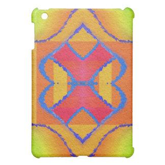 緑の吹きかけられた万華鏡のように千変万化するパターン、黄色い、オレンジ iPad MINI CASE