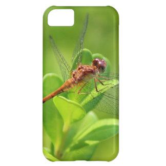 緑の園芸植物で上陸するトンボ iPhone5Cケース