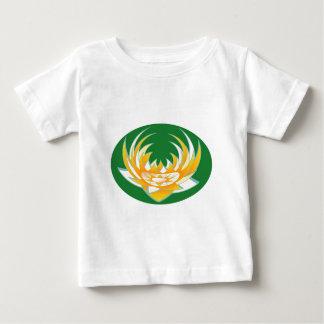 緑の基盤のはす炎 ベビーTシャツ