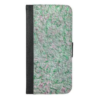 緑の壁の背景 iPhone 6/6S PLUS ウォレットケース