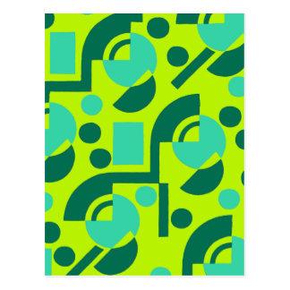 緑の壊れた円 ポストカード