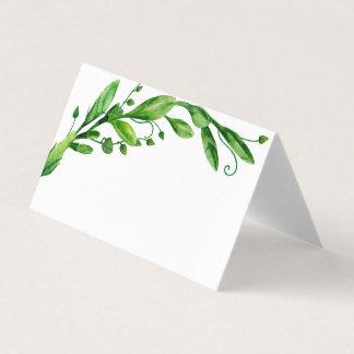 緑の夏の結婚式の座席カード植物園 プレイスカード