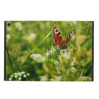 緑の夏草原の孔雀蝶 POWIS iPad AIR 2 ケース
