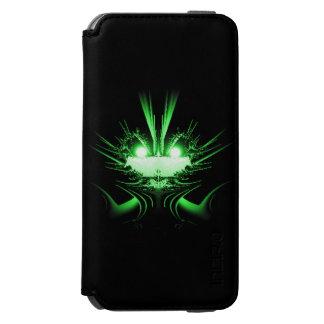 緑の外国のドラゴンwの白熱[赤熱]光を放つな目 incipio watson™ iPhone 6 ウォレットケース