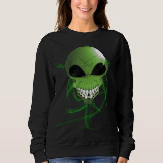 緑の外国の女性の基本的なスエットシャツ スウェットシャツ