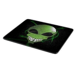 緑の外国の装飾的なガラスまな板 カッティングボード
