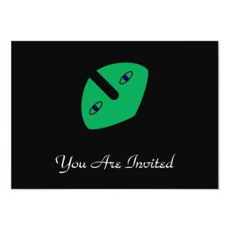 緑の外国の頭部 カード