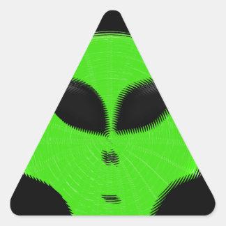 緑の外国の頭部 三角形シール