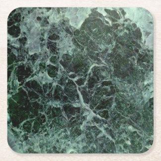 緑の大理石のコースター スクエアペーパーコースター