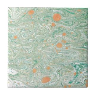 緑の大理石 タイル