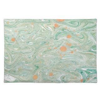 緑の大理石 ランチョンマット