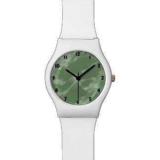 緑の大理石 腕時計