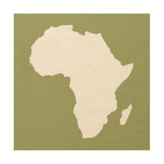 緑の大胆なアフリカ ウッドウォールアート