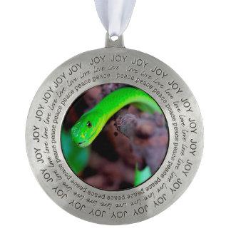 緑の大蛇のヘビ オーナメント
