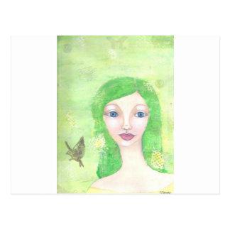 緑の天使1.jpg ポストカード