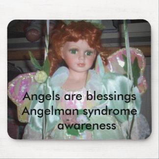 緑の天使2の天使はblessingsAngelmanのSYN…です マウスパッド