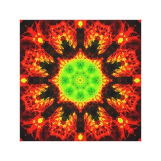 緑の太陽の曼荼羅 キャンバスプリント