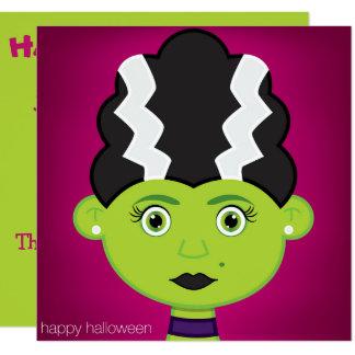 緑の女の子モンスター カード