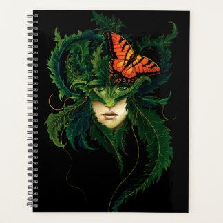 緑の女性 プランナー手帳