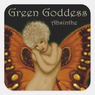 緑の女神のアブサン スクエアシール
