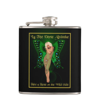 緑の妖精のアブサン フラスク