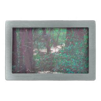 緑の妖精の森 長方形ベルトバックル