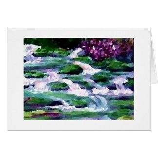 """""""緑の妖精の滝""""のCricketDianeの芸術 グリーティングカード"""