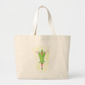 緑の妖精 ラージトートバッグ