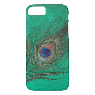 緑の孔雀の羽のiPhone 7の箱 iPhone 8/7ケース