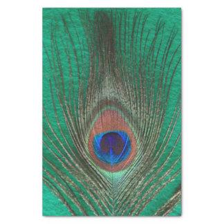緑の孔雀の羽 薄葉紙