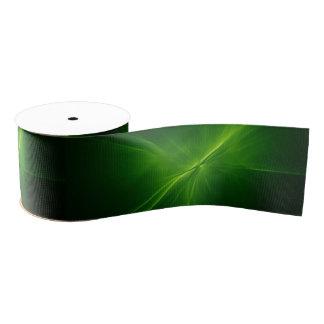 """緑の宇宙のgrosgrain 3""""リボン グログランリボン"""