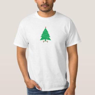 緑の小ぎれいな木の新年 Tシャツ